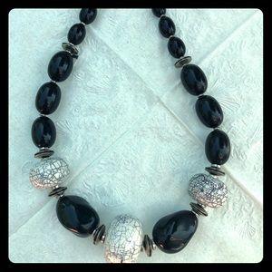 Black & white stone necklace